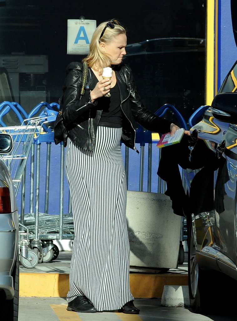 Pregnant Malin Akerman Makes an Ice Cream Stop in Stripes