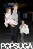 Nicole Kidman traveled out of LAX with daughters Faith Urban and Sunday Urban.