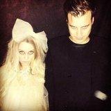 Lauren Conrad and boyfriend William Tell dressed as spooky ghosts for Halloween. Source: Instagram user laurenconrad