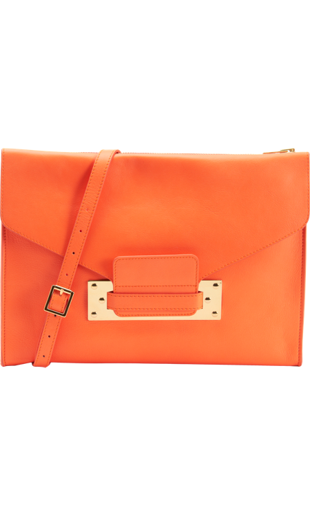 I've loved Sophie Hulme for a while now, and I'm so excited that the British designer is finally more available stateside. This bold Crossbody Envelope Clutch ($645) is perfect for Fashion Week: big enough to hold my iPad and bright enough to liven up any outfit.  — Melissa Liebling-Goldberg, fashion and beauty director