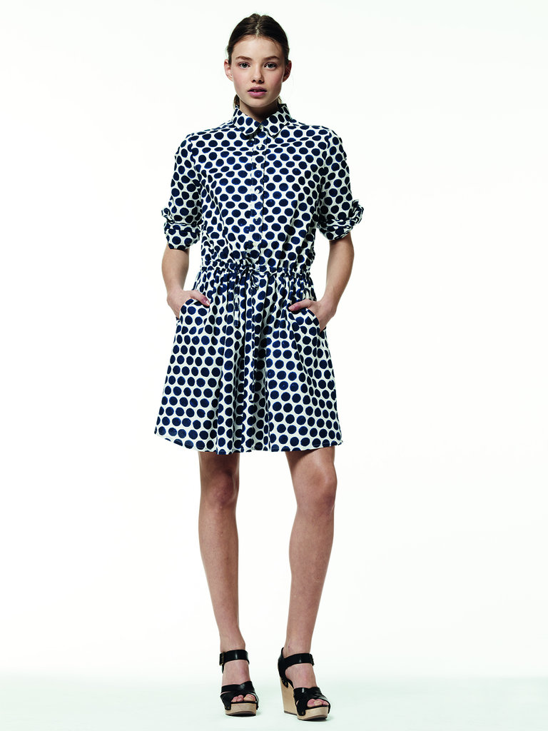 The polka-dot motif is strong for Summer, as evidenced here in this work-appropriate day dress.