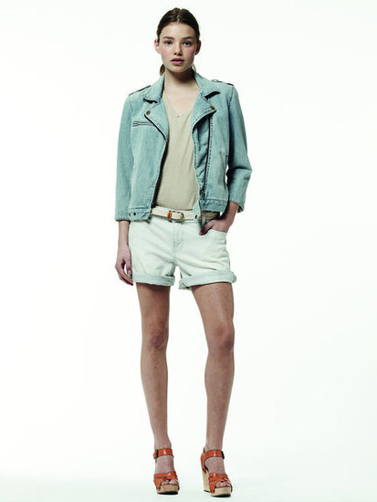 We love this denim moto jacket as a tougher complement to your go-to jean wares.