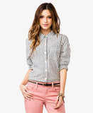 We love the laid-back ease of Forever 21's Vertical Stripes Shirt ($18) — and the price is right as well.