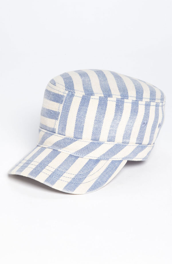 You can't play railroad engineer without Grace Hats' Striped Engineer Hat ($42).