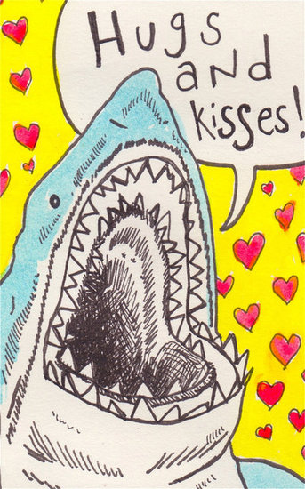 Hugs and kisses! Shark attack ($5)