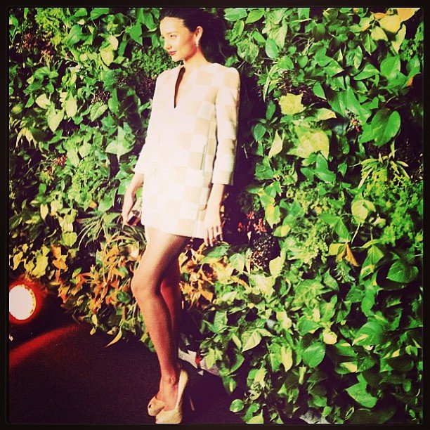 Miranda Kerr posed at the opening of the Louis Vuitton store in Cancun. Source: Instagram user mirandakerrverified