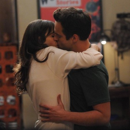 New Girl Nick and Jess Kiss