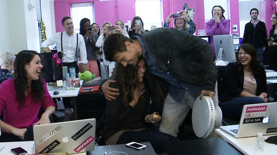 Video: Josh Duhamel and Nicholas Sparks Make a Surprise Visit to POPSUGAR!