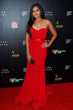Jessica Mauboy wore red to the AACTAs.