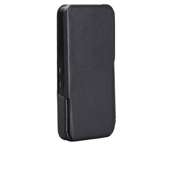 The BlackBerry Z10 Signature Flip Case ($50) is constructed with pebbled black leather and microfiber interior that protects the phone on all sides.