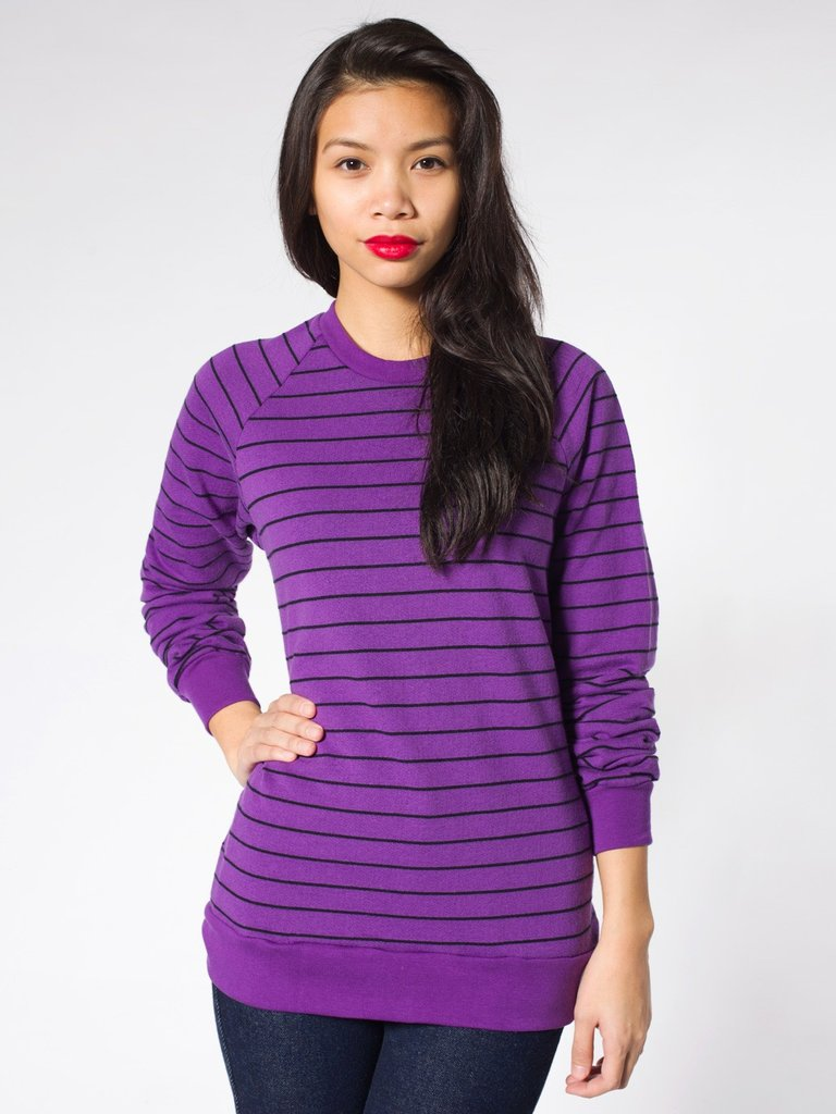 American Apparel's Unisex Fleece Raglan Pullover ($43) has a slouchy borrowed-from-the-boys silhouette.