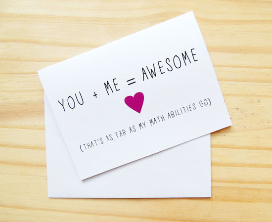 We love this sweet and nerdy You and Me Valentine's Day card ($4).