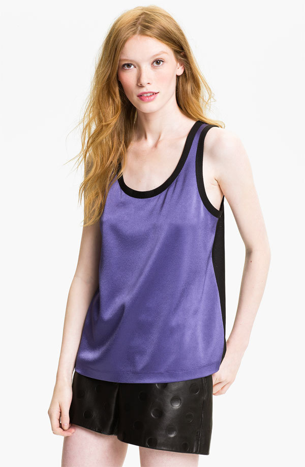 This sporty Marc by Marc Jacobs Elena Tank ($198) would look perfect with black pants and Converse.