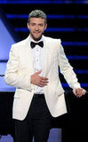 Justin wore a black-and-white getup while hosting the ESPY Awards in 2008.