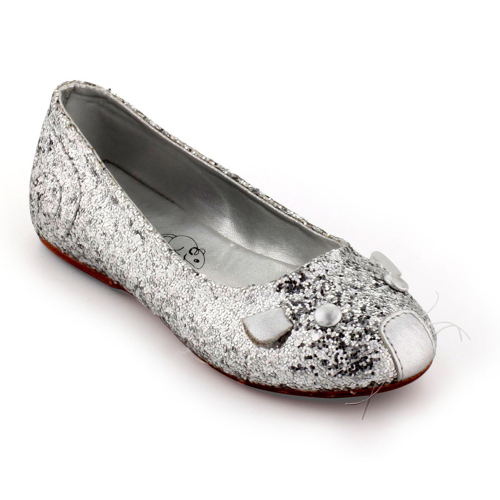 Little Marc Jacobs Glittery Silver Mouse Flats ($171)