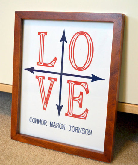 Lacey Fields Nautical Love Print