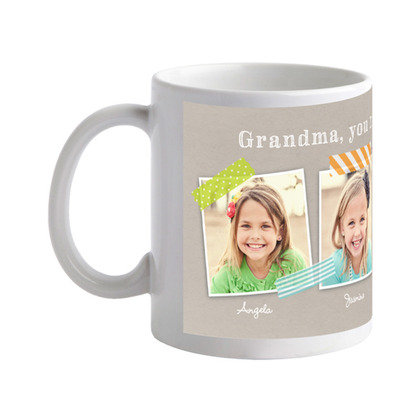 Give grandma's morning cup of joe a personalized punch with this photo mug ($16) from Tiny Prints.