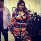 Mindy Kaling scored a Missoni dress. Source: Instagram user mindykaling