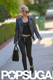 Miley Cyrus smiled while out in LA.
