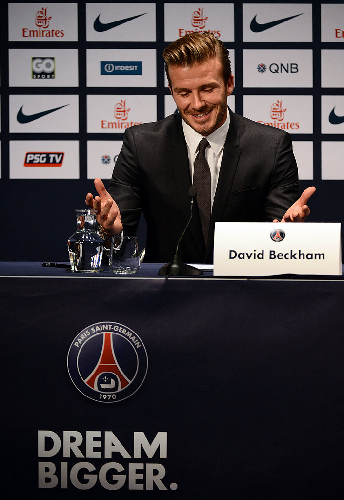 David Beckham announced that he will officially join Paris St. Germain soccer team during a press conference in Paris.