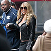 Mariah Carey Shows Off Stomach in NYC (Pictures)