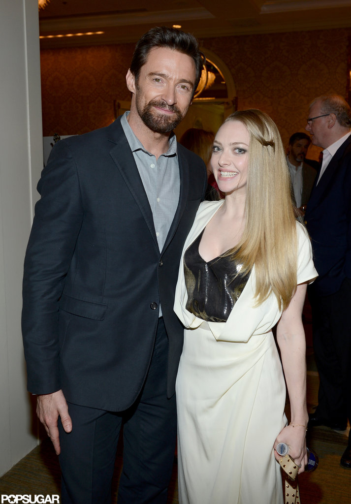Hugh Jackman and Amanda Seyfried linked up and posed for photos during the AFI Awards.