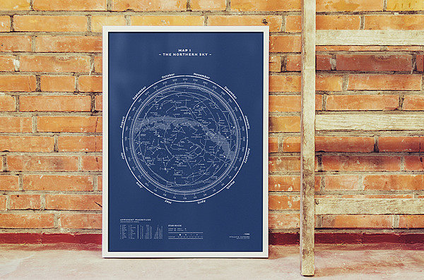 The Northern Sky Silkscreen Print