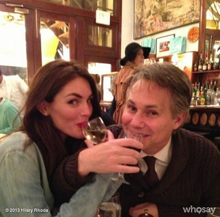 Hilary Rhoda and Jason Binns had dinner at Cipriani's. Source: Hilary Rhoda on WhoSay