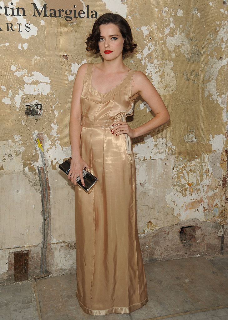 "On who he has in mind when he designs: ""My muse is lovely French actress Roxane Mesquida (pictured, at the Maison Martin Margiela For H&M launch party). Her effortless elegance and talent inspire me."""