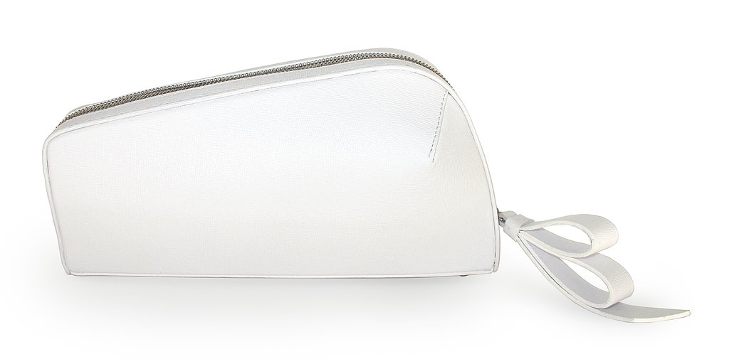Jerome C. Rousseau White Leather Rox Clutch, not available for preorder yet.