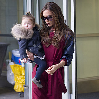 Victoria Beckham Arrives in NYC For NYFW With Harper Beckham
