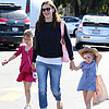 Jennifer Garner Goes to the Farmers Market With the Girls