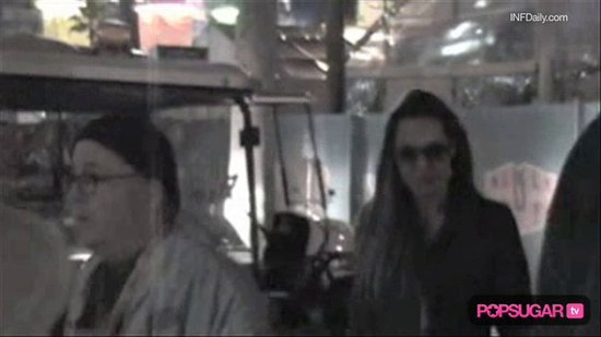 Video: Brad & Angelina Take Maddox to the Super Bowl!