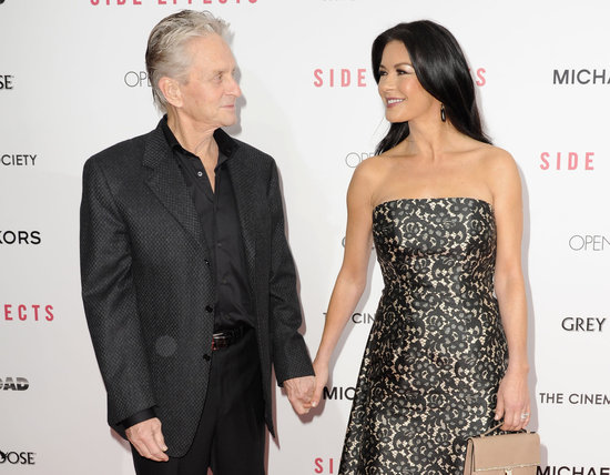 Catherine Zeta-Jones walked the red carpet with Michael Douglas.