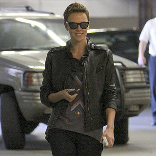 Charlize Theron Wears a Faux Hawk to Lunch | Pictures