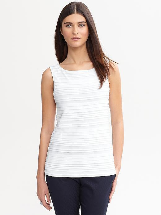 Layer this white top ($30, originally $45) with other whites and beiges for a similar look.