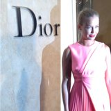 Lara Bingle was looking pretty and demure in pink at the opening of Sydney's new Christian Dior store. Source: Instagram user mslbingle