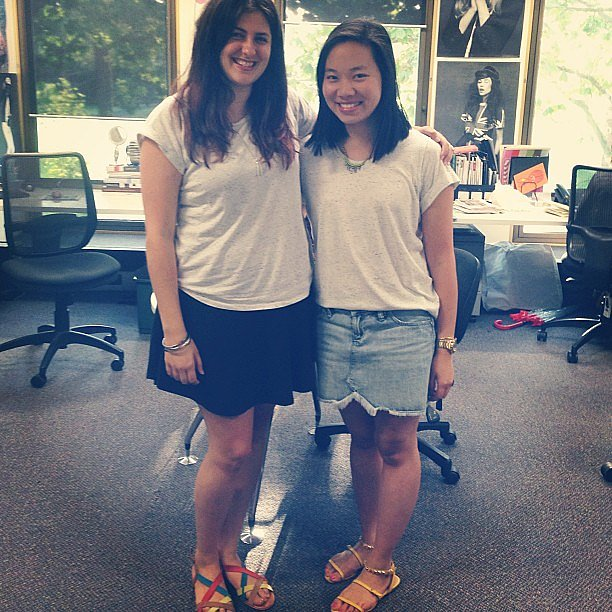 Snap! Gen and Jess rocked up to work wearing the same Topshop tee. It was a bargain, you guys.
