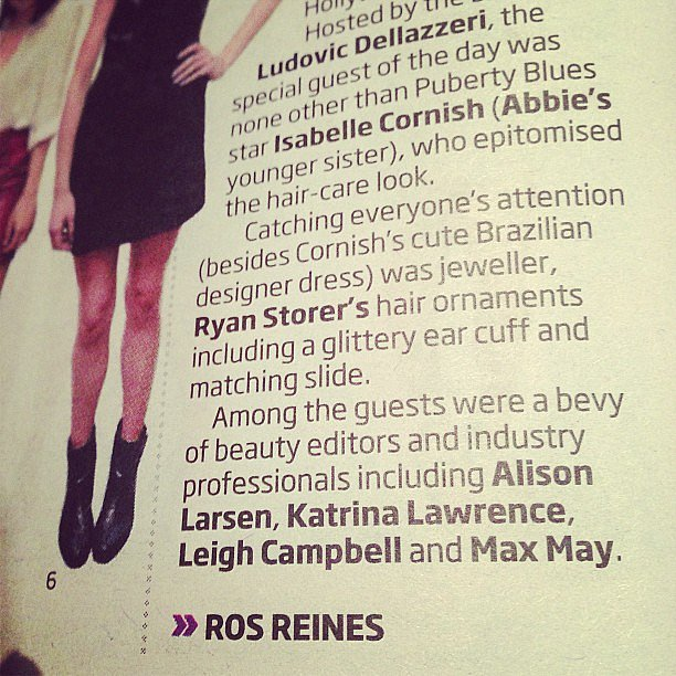 Check it out! BellaSugar editor Alison got herself a little mention in the Sunday paper.