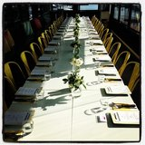 How luxe does this table setting for Dermalogica look? So pretty!