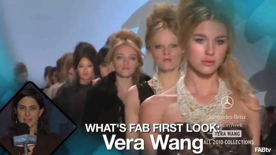 Vera Wang Fall Runway at New York Fashion Week: What's Fab First Look