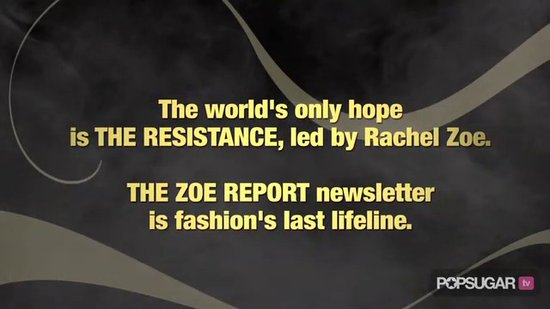 Rachel Zoe Battles Her Evil Alter Ego, The Zoeinator!