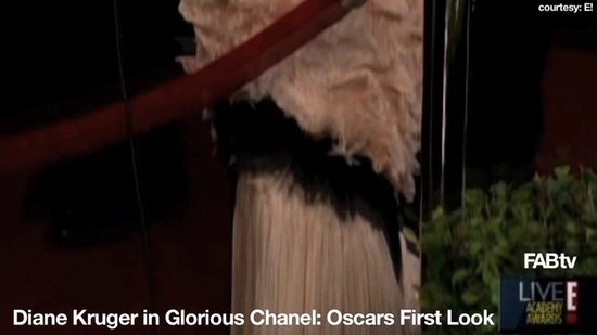 Diane Kruger Delights in Vintage-Inspired Chanel: 2010 Oscars