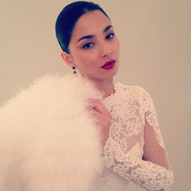 Jessica Gomes upped the glam with this beautifully-crafted makeup look. Source: Instagram user iamjessicagomes