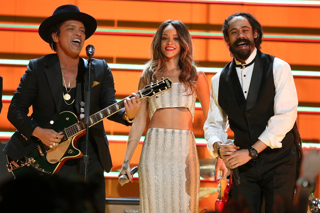 Bruno Mars, Rihanna, and Damian Marley