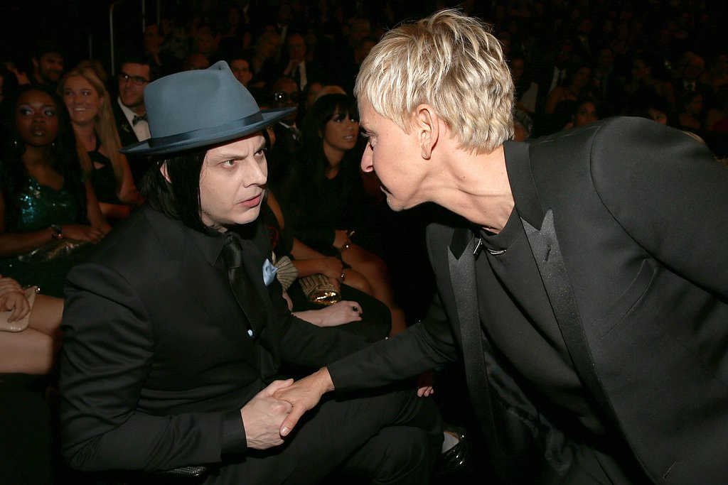 Jack White and Ellen DeGeneres