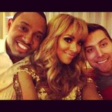 Kat Graham shared a photo while watching the Grammys with Lance Bass and Terrence J. Source: Instagram user KatGrahamPics