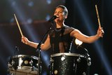 "Alicia Keys rocked the crowd with a performance of ""Girl on Fire."""