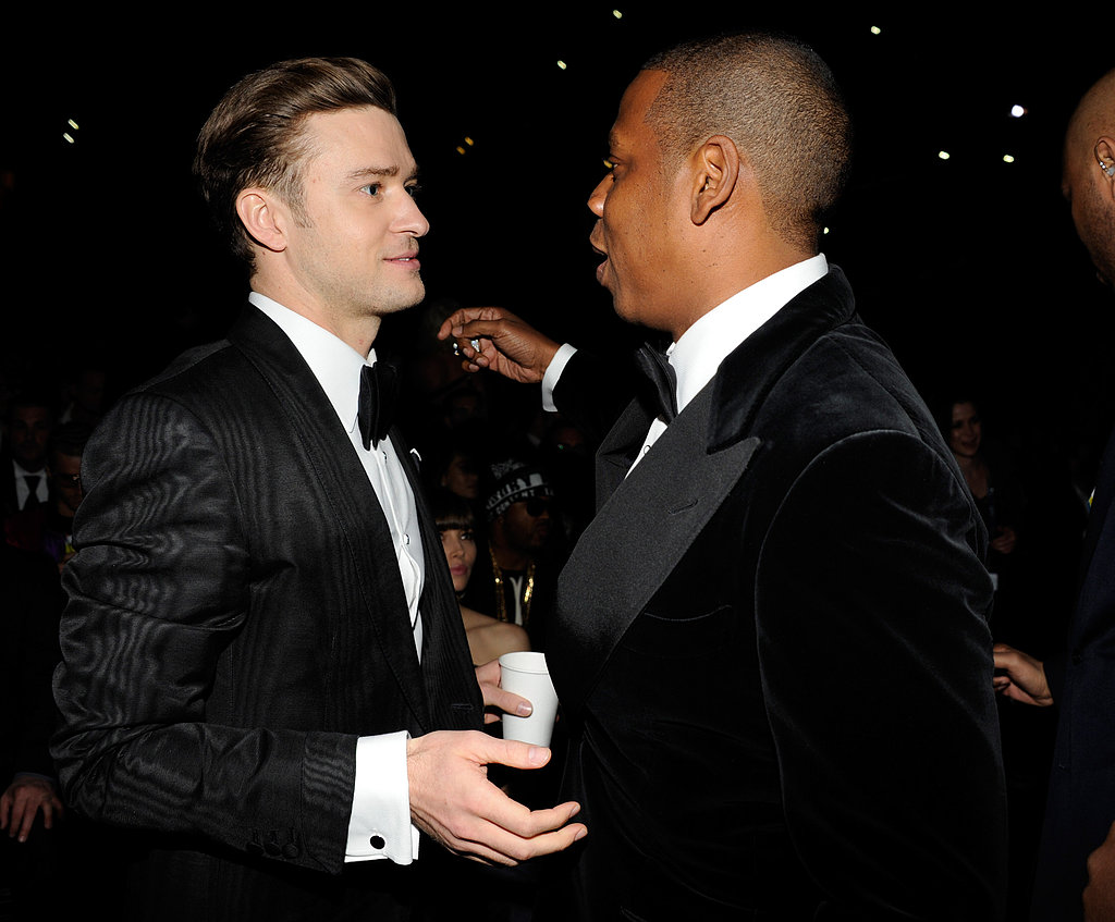 JT and Jessica Biel Laugh It Up With Beyoncé at the Grammys