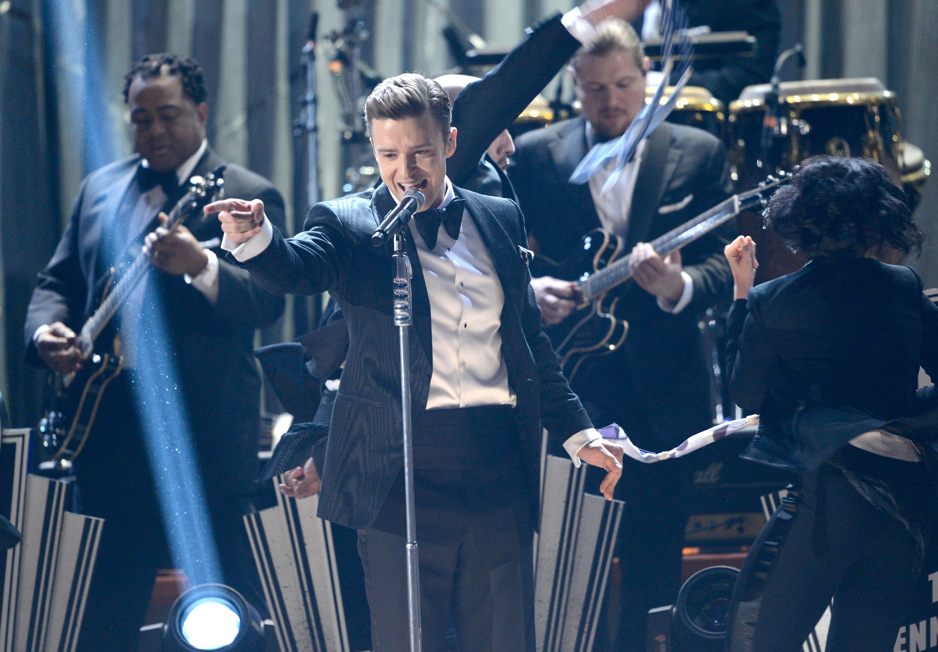 Justin Timberlake belted it out during the show.